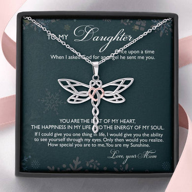 Gift For Daughter Dragonfly Necklace From Mom
