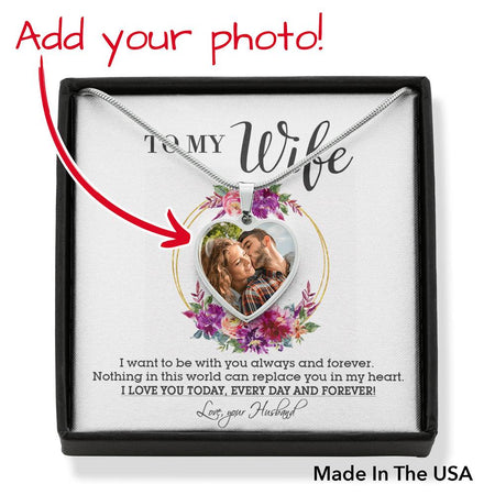 Perfect Gift For Wife Necklace Personlaized Upload Image