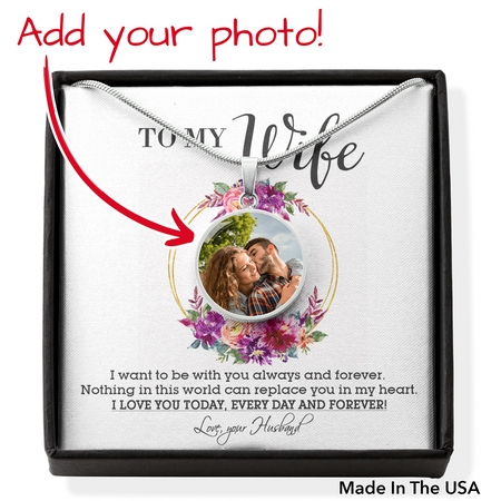Perfect Gift For Wife Necklace Personalized Upload Image