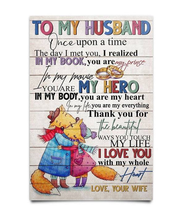 To My Husband Poster Poster