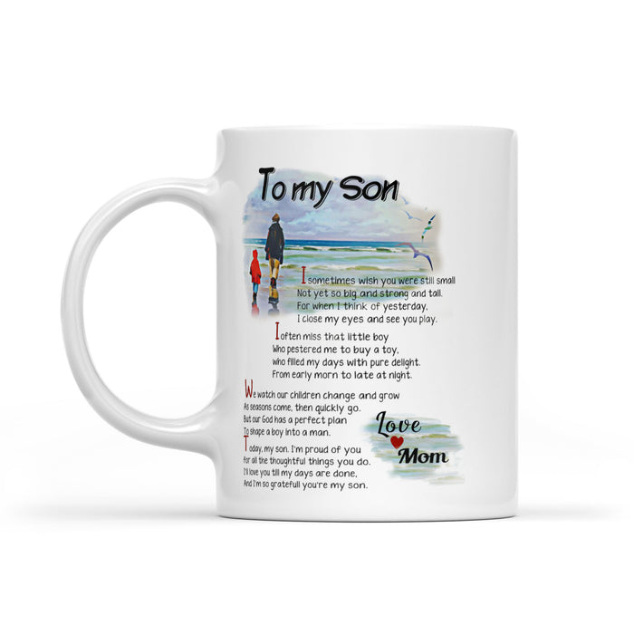 To My Son White Mug
