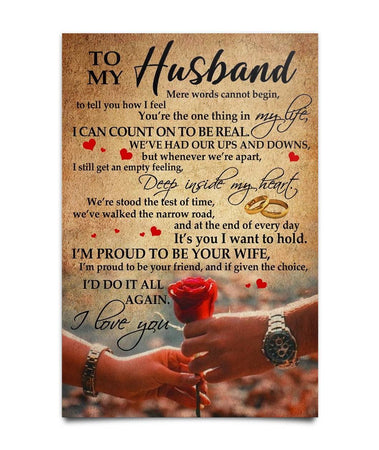 Gift For Husband - To My Husband Poster