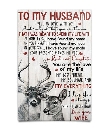Perfect Gifts For Husband - To My Husband Poster Poster