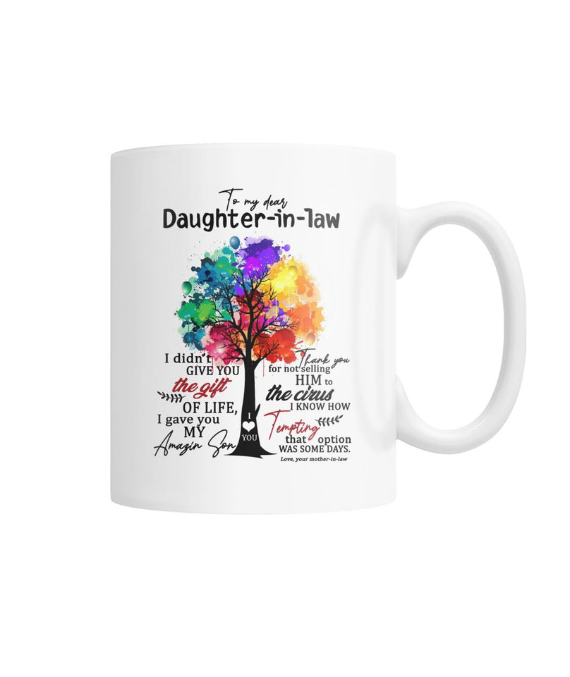To My Daughter-in-law White Coffee Mug