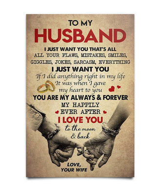 Gift For Husband - Husband Poster