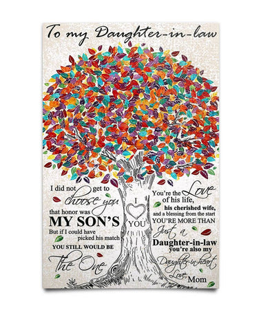 PERFECT GIFT FOR DAUGHTER IN-LAW POSTER Poster