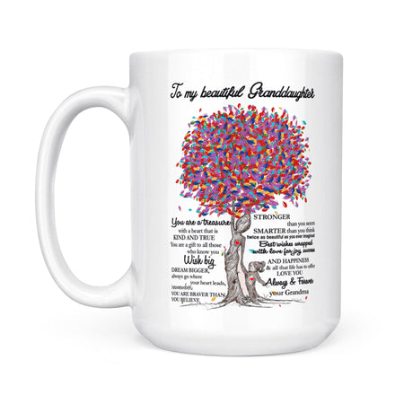 Gift For Granddaughter White Mug From Grandma