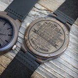 Engraved Wooden Watch For Dad - Great Gifts For Father