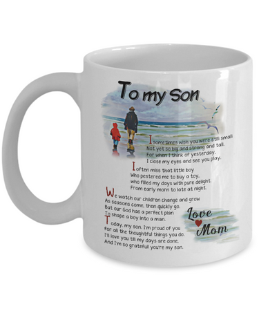 To My Son White Coffee Mug