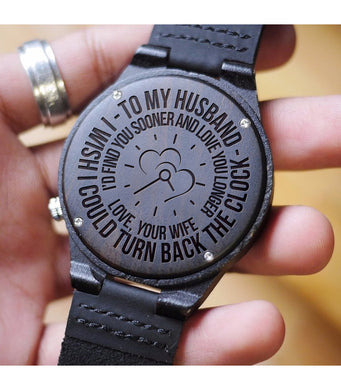 HUSBAND WOODEN WATCH - A GREAT GIFTS FOR YOUR HUSBAND