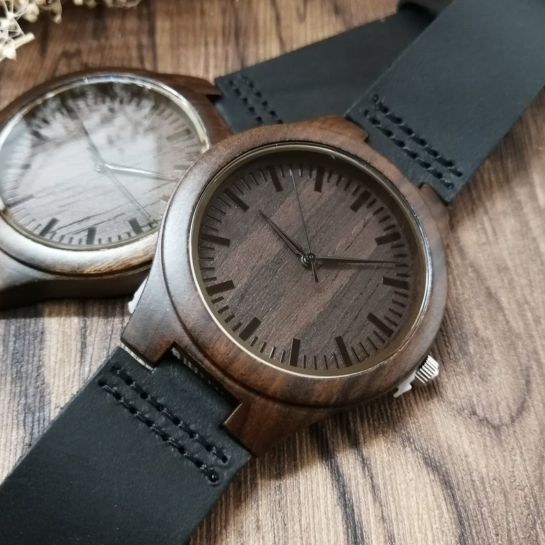 Engraved Wooden Watch - Great Gift For Your Son