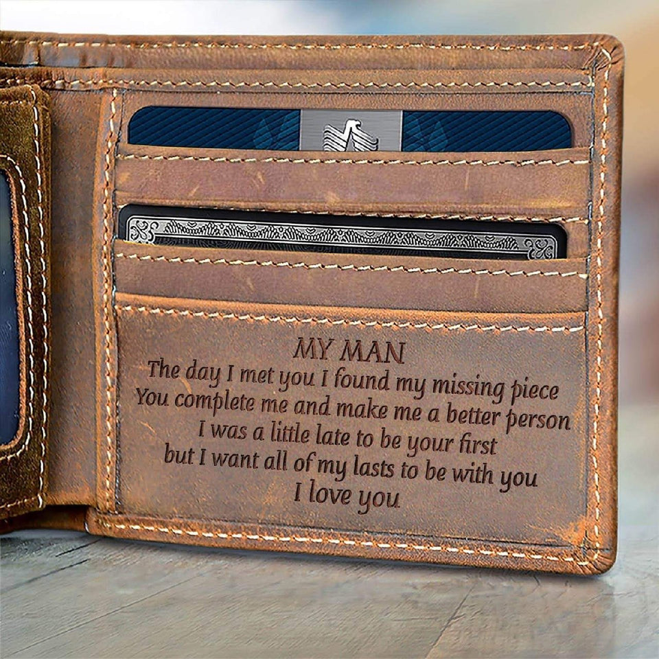 Leather Wallet To My Man