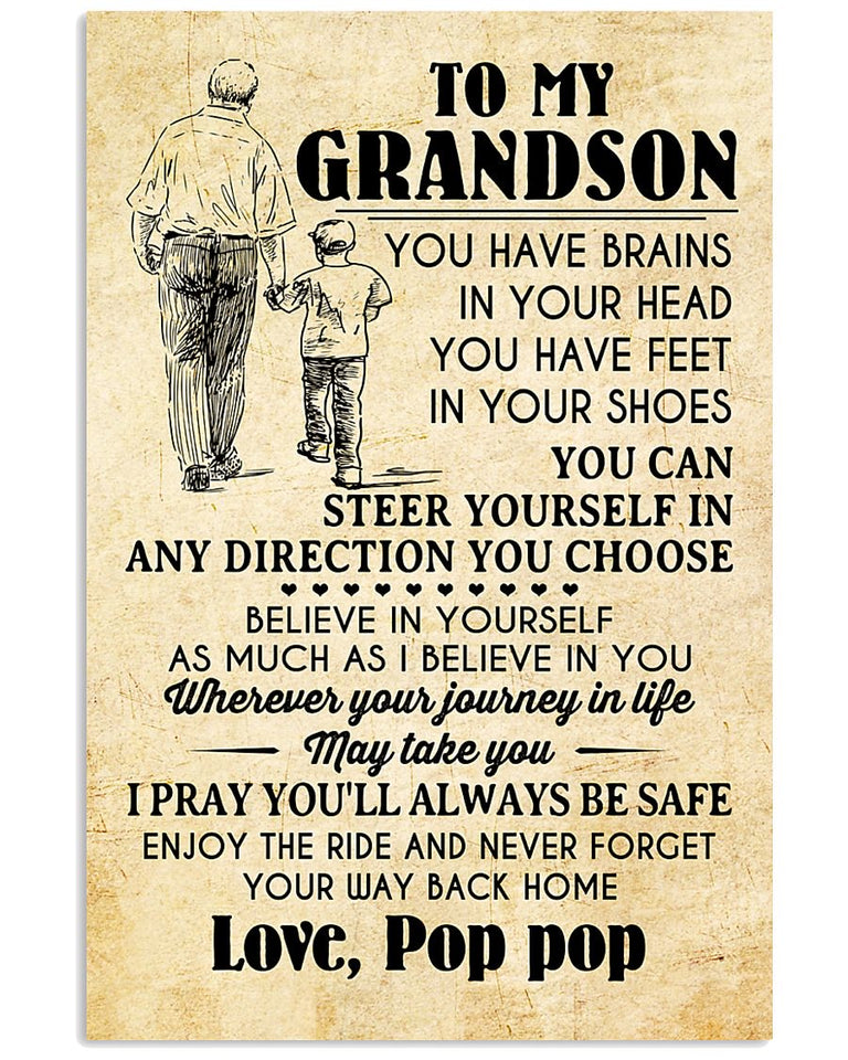 To My Grandson Poster