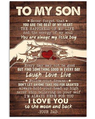 To My Son Poster - Great Gifts For Your Son