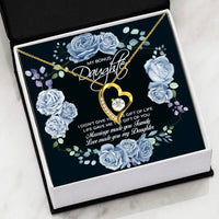 To My Daughter Necklace Gifts