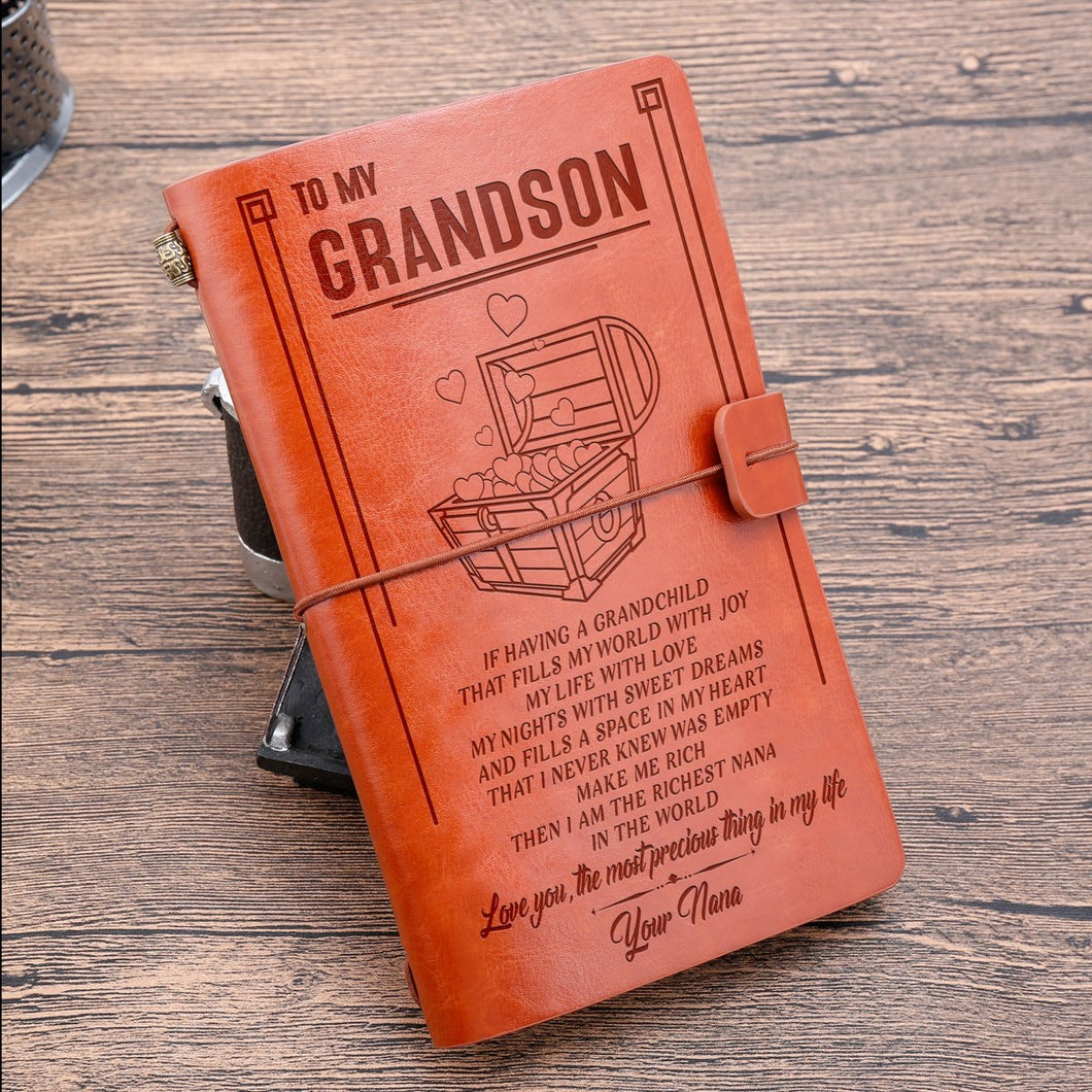 To My Grandson - Vintage Journal Notebook