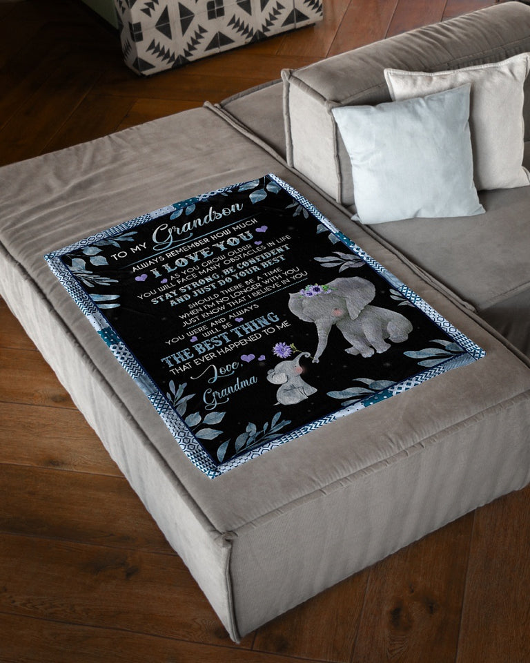 Fleece Blanket - Gifts For Grandson