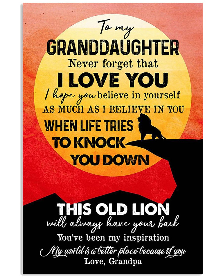 To My Granddaughter Poster