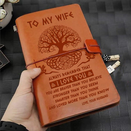 To My Wife - Vintage Journal Notebook