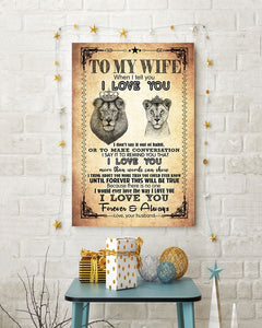 Perfect Gifts For Wife - To My Wife  Poster