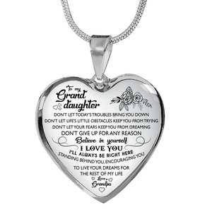 GrandDaughter Necklace Gifts - Great Gifts For GrandDaughter