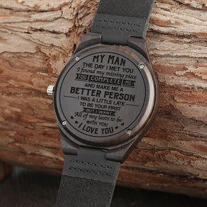 Engraved Wooden Watch - Great Gift For Your Husband
