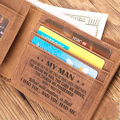 MY MAN - LEATHER WALLET