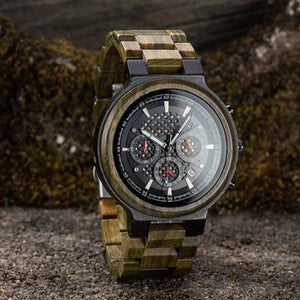 Green Sandalwood Wooden Watch Quartz Watches - Great Gifts For Husband