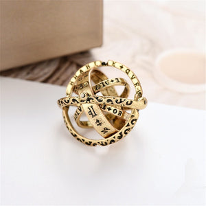 Universe Planet Astronomical Ball Love Couple Ring