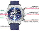Men Automatic Self Wind Mechanical Leather Luxury Watch