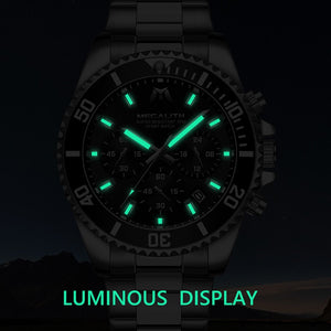 Father's Day Gift For Dad/Husband/Man - Top Brand Luxury Sport Military Steel Wrist Watch Man's Chronograph Wristwatch