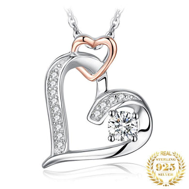 Infinity Heart Pendant Necklace  Silver 925 Jewelry - Gift For Wife/Mom/Daughter...