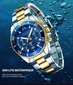 Father's Day Gift For Dad/Husband/Man - Luxury Mens Watches Sports Chronograph Waterproof Analog 24 Hour Date