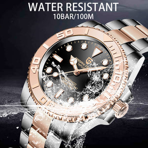 PAGANI Stainless Steel Waterproof Men's Automatic Watch Sapphire Luxury Mechanical Wristwatch - Gift For Dad/Husband/Son/Boyfriend...