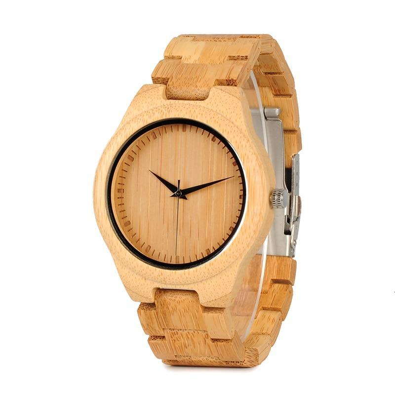 Full Bamboo Mens Watches Luxury Japanses Movement Quartz Wristwatches