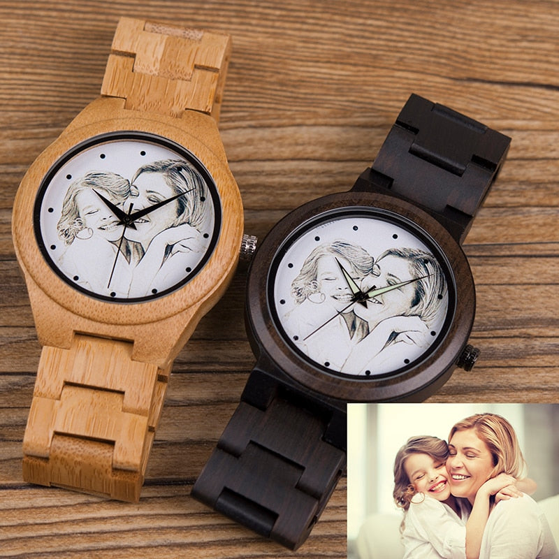 Customize Wooden Watch Great Gifts