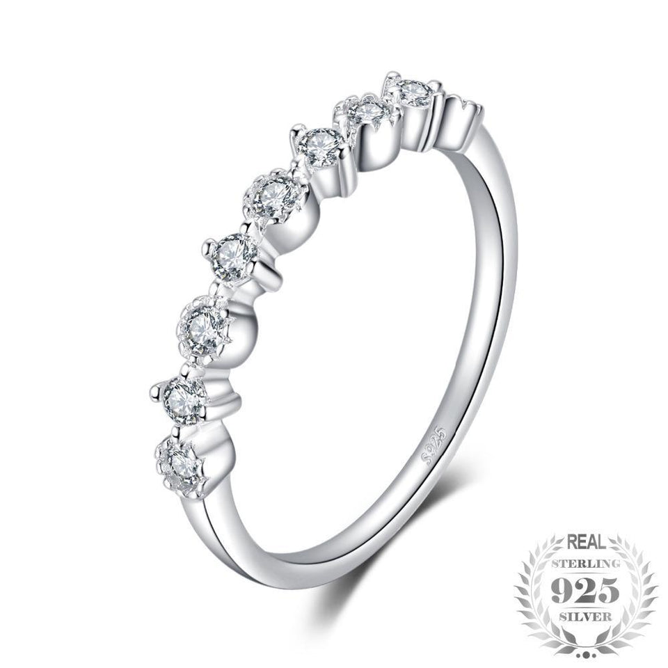 Cubic Zirconia Weddig Band Ring For Women