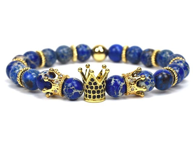 King Crown Charm Bracelet