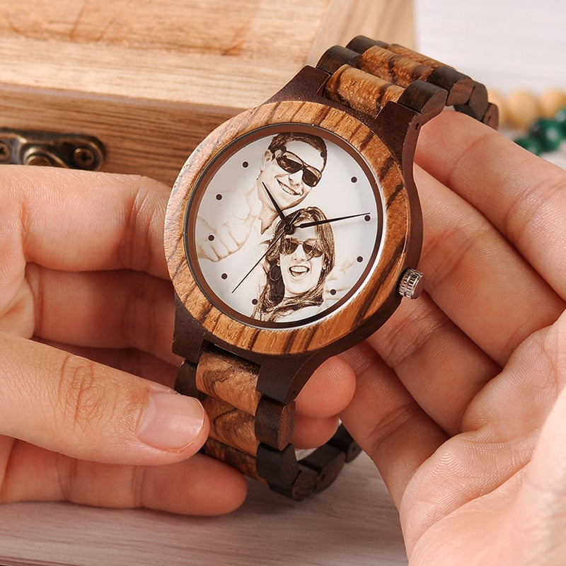 Unique Bamboo Wood Wristwatch Creative Gift For Lovers