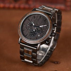 Great Gift For Husband - Engraved Wooden Wristwatches