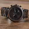 Great Gift For Husband - Wooden Stainless Steel Quartz Wristwatches