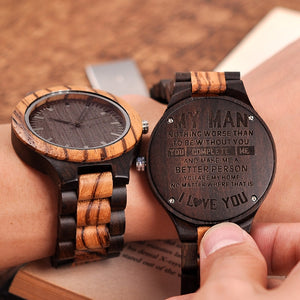 Wood Engraving Watch Anniversary A Great Gifts