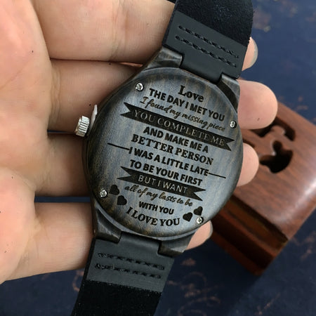 Wooden Custom Watch for Men Boyfriend Gifts Engraved