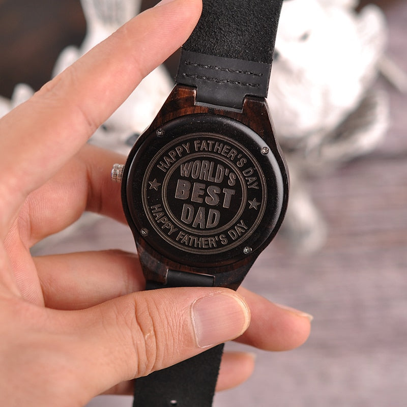 Engraved Wooden Watches Gifts For Dad
