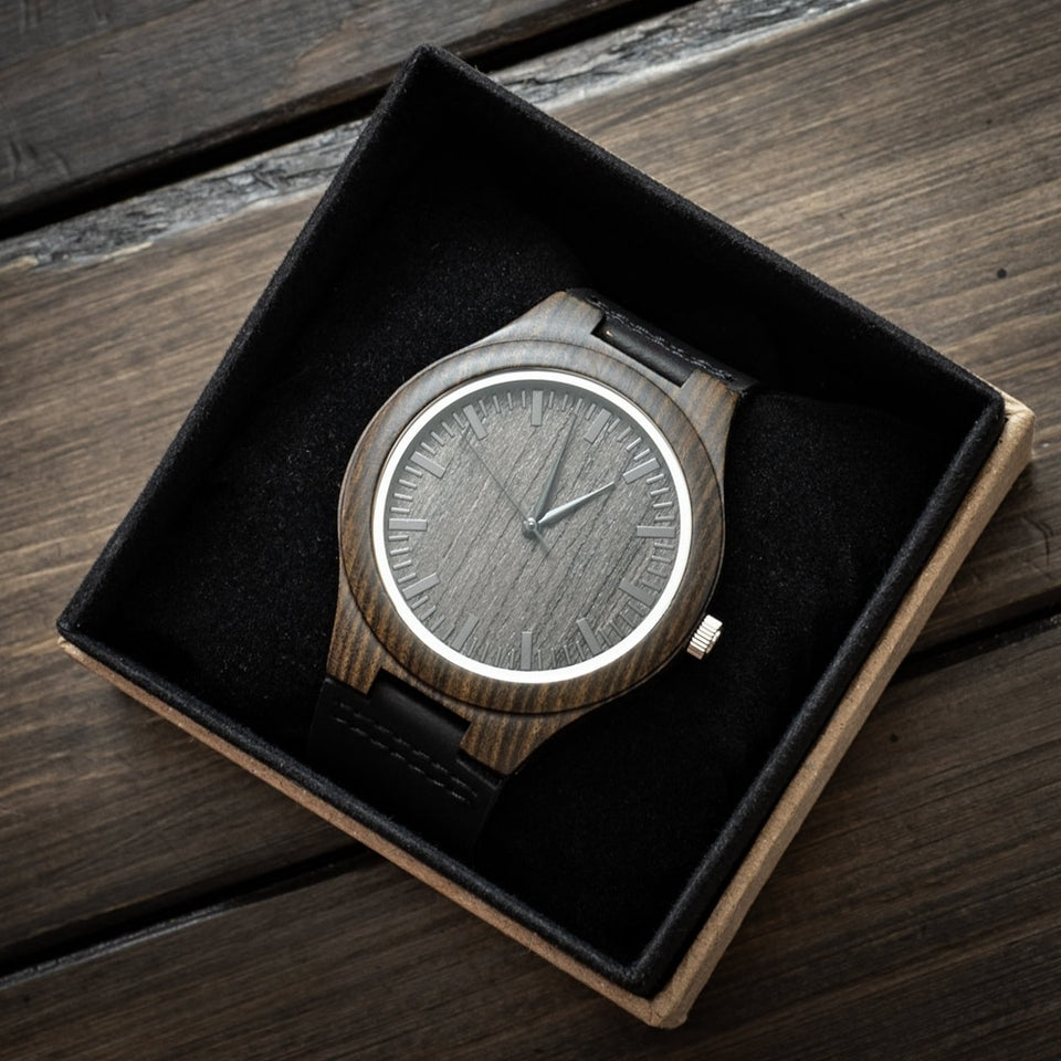 Engraving Wood Watch Gifts