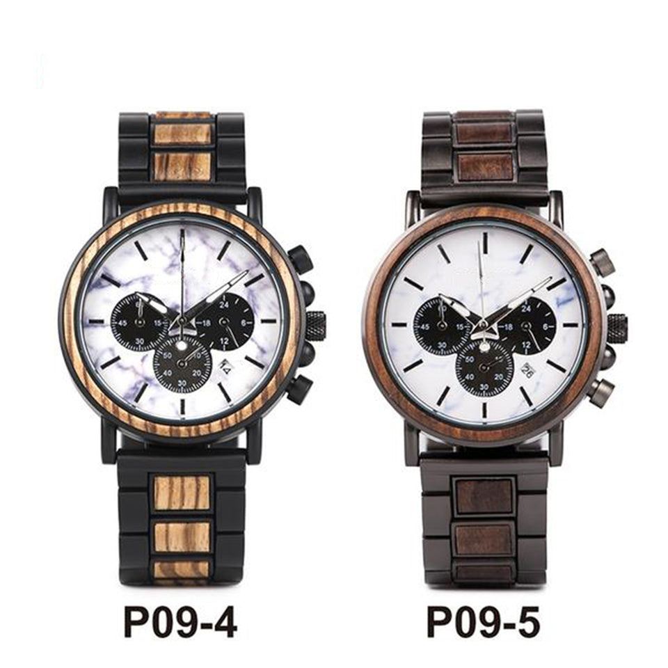 Wood Watch Male Military Quartz Wristwatch