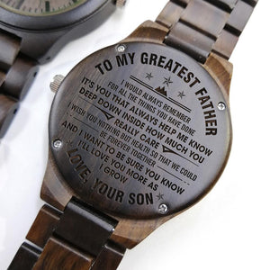 Engraved Full Wooden Watch For Dad – Great Gifts For Your Dad