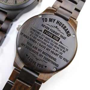 Engraved Full Wooden Watch - Great Gift For Your Husband