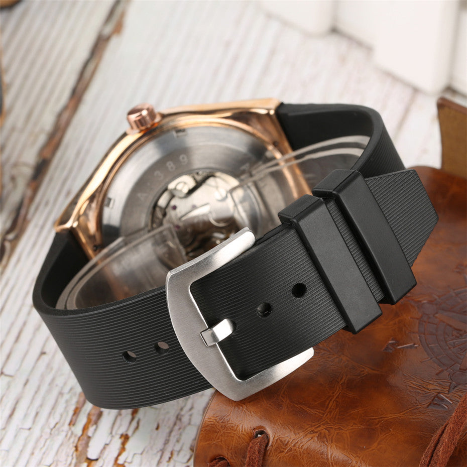 Vintage Rose Gold Watch Men Automatic Mechanical Watches - Gift For Man