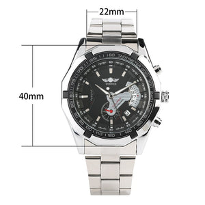 Men's Watches Silver Stainless Steel Band Automatic - Gift For Man